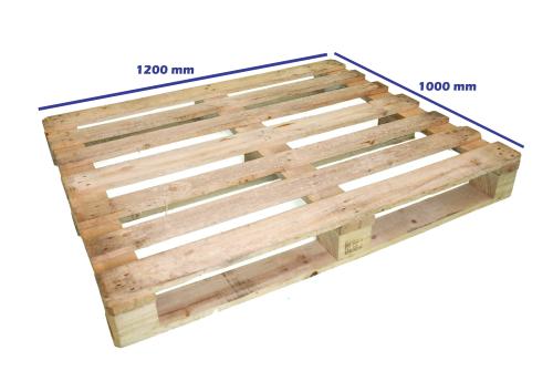 Palets reciclados 1200 x 1000 fuertes palets en madrid - Tamano palet europeo ...